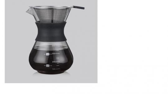 passador de café vidro com silicone mimo style /*
