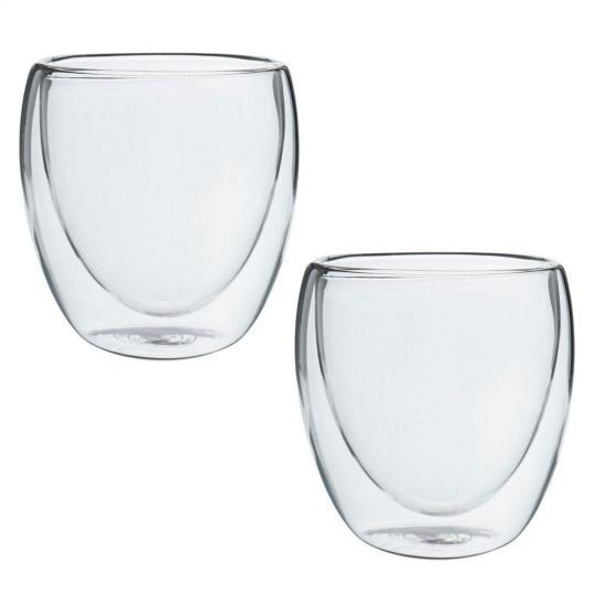 conjunto de 2 copos para café parede dupla 80 ml mimo style