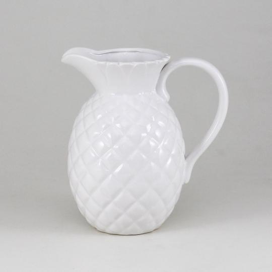 jarra ceramica branca abacaxi craw