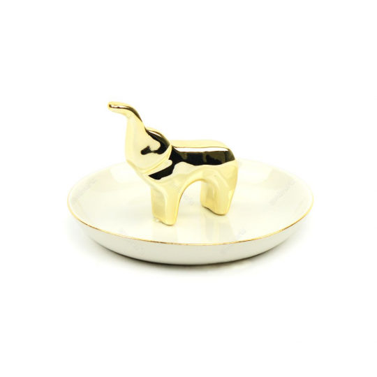 porta bijoux elefante dourado