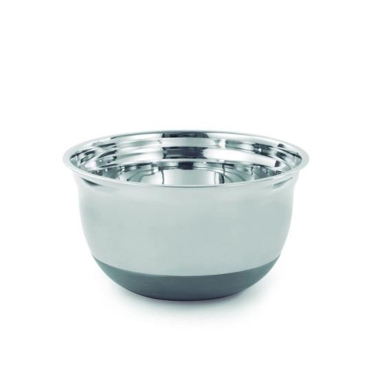 bowl em inox com base em silicone 25cm