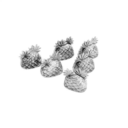 jogo de 6 porta cartões de abacaxi lyor /,
