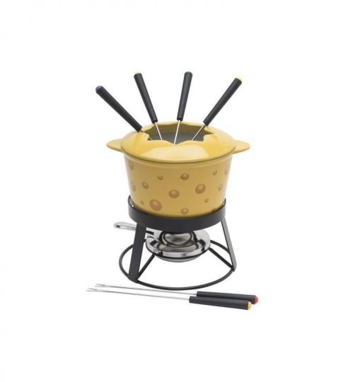 fondue 10 peças com panela de cerâmica cheese