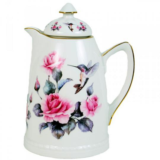 garrafa térmica em porcelana 750ml beija flor