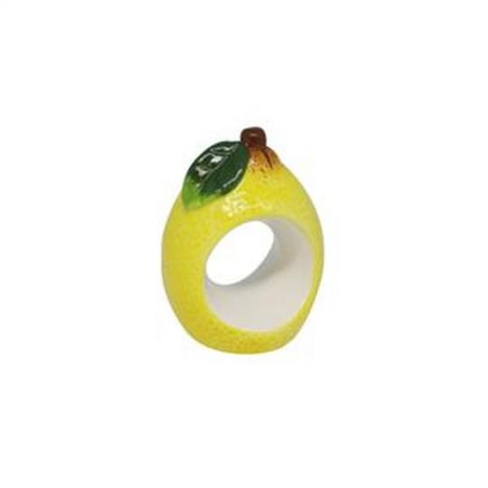 jogo de 4 aneis lemons para guardanapo em cerâmica bon gourmet