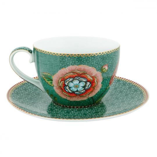 xícara de chá spring to life verde unitária pip studio
