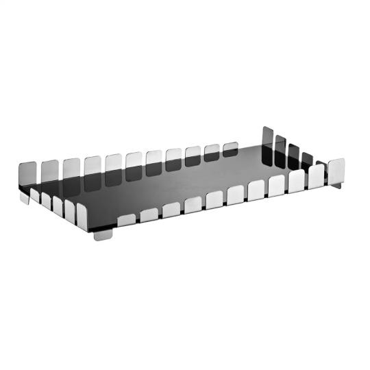 bandeja retangular piano bar níquel black riva