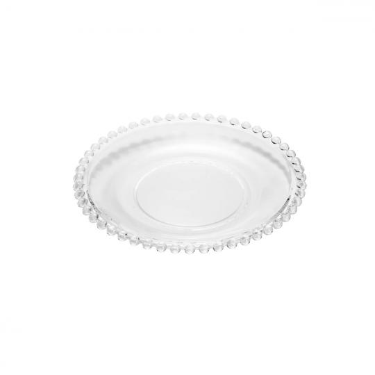 jogo de 6 pratos pearl em cristal 20cm wolff