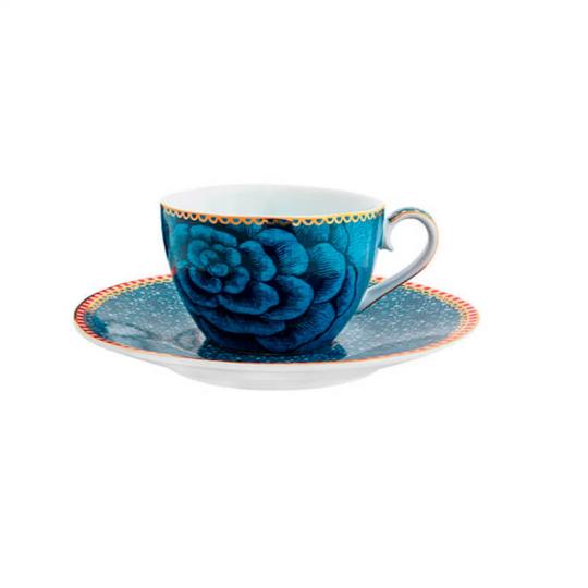 xícara de café spring to life azul unitária pip studio