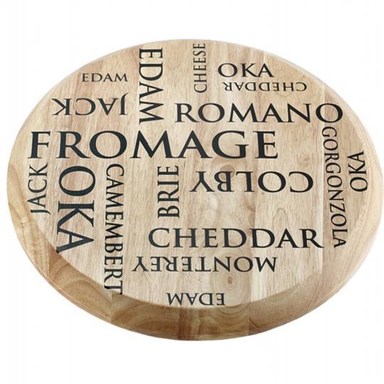 tábua giratória para queijo de madeira 44,5cm