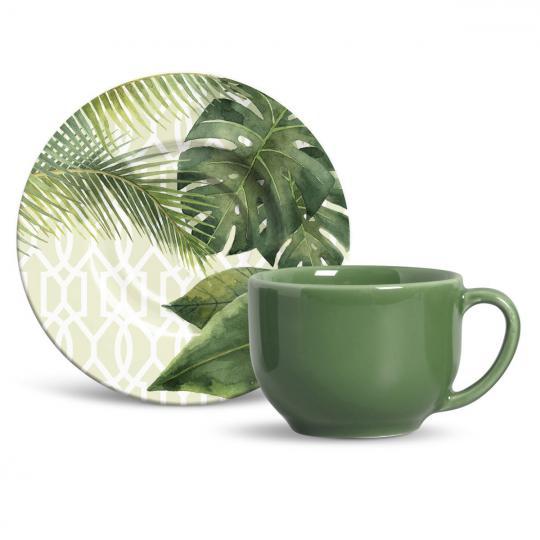 jogo 6 xícaras de chá mônaco travattura porto brasil