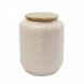 pote de cerâmica rosa com tampa de madeira