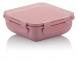 marmita hermetica quadrada rosa  ou