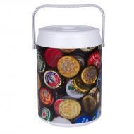 cooler 42 latas estampa tampinhas