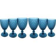 jogo de taças para água azul verre 6 peças mimo style