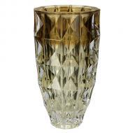 vaso cristal ecologico diamond ambar 28cm bohemia