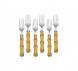 jogo de 6 garfos de sobremesa bambu lyor