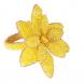 jogo de 4 porta guardanapos flor amarelo em metal e miçanga