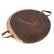 tabua madeira alça couro